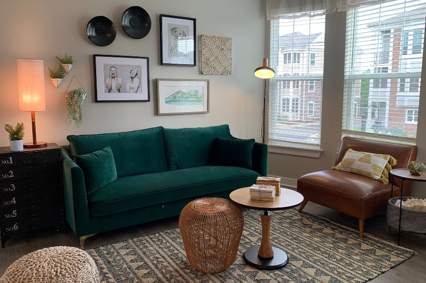 Westfield apartment living room