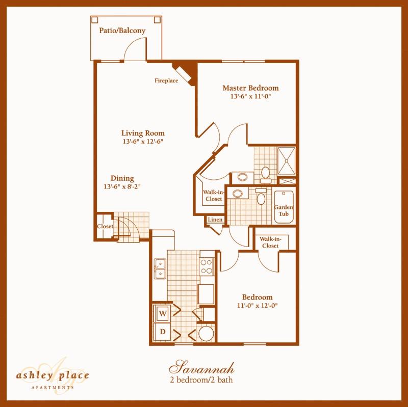Savannah 2 Bedroom Westfield Apartment